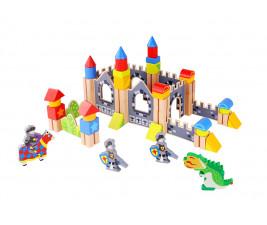 Kit Blocos Castelo Medieval com 60 peças Tooky Toy