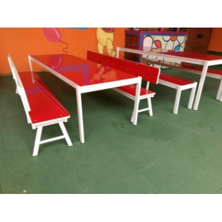 Conjunto Refeitório Infantil com Encosto 1,80