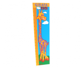 Girafa Amiga Régua de Altura em Madeira