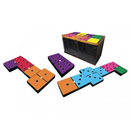 Jogo Domino Tradicional Colorido Mega Gigante