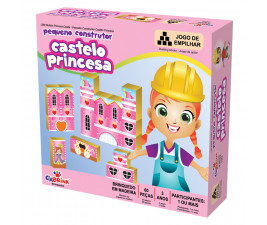 Pequeno Construtor Castelo Princesa com 60 peças