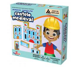 Pequeno Construtor Castelo Medieval com 60 peças