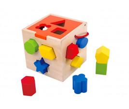 Cubo Educativo para Encaixe em Madeira Tooky Toy
