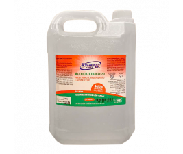 Álcool Etílico 70% com 5 litros Dimple