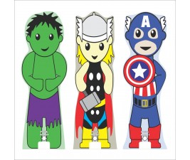 Totem para Álcool em Gel Infantil Super Heróis