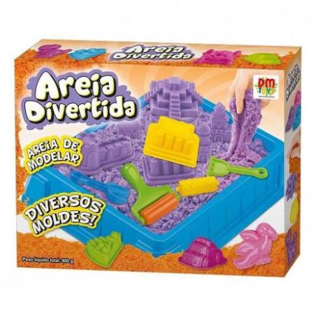 Massinha Areia Modelar Divertida Castelo com 900g DM Toys