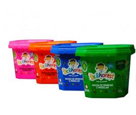 Massinha de Brincar e Modelar Dr. Bhorest - Kit com 4 cores