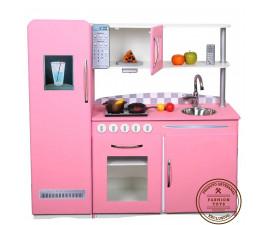 Cozinha Infantil Retrô Rosa Fashion Toys
