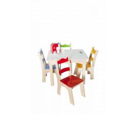 Mesa Infantil com 4 cadeiras Tropical