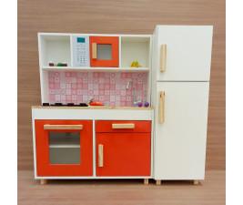 Mini Cozinha Infantil Completa em Madeira