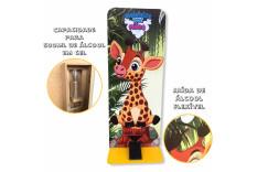 Totem Dispenser Álcool em Gel Infantil Girafa