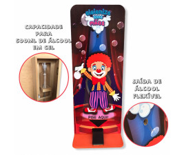 Totem Álcool em Gel Infantil Palhaço FRIP Brinquedos