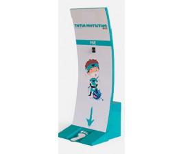 Totem Display Proteção Álcool Gel  Infantil Dispenser com 5 litros