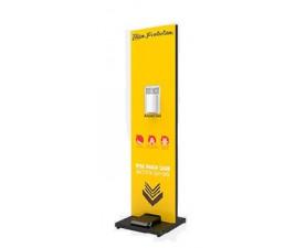 Totem Display Tradicional Proteção  Álcool em Gel com 500 ml
