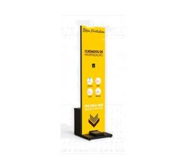 Totem Display Proteção Universal Álcool em Gel com 5 litros