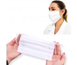 Mascara de Proteção Tecido Algodão Branco Adulto