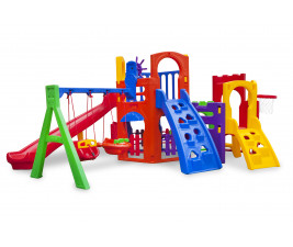 Playground Multiplay Petit + Play House + Kit Fly Duplo