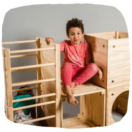 Mini Playground Conjunto de Cubos Pikler