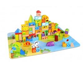 Kit Blocos Fazenda com 135 peças Tooky Toy