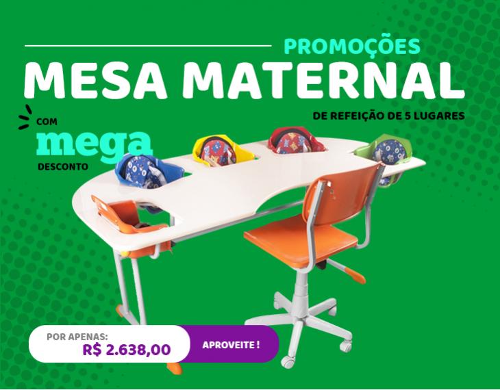 Banner Mesa Maternal com 5 lugares
