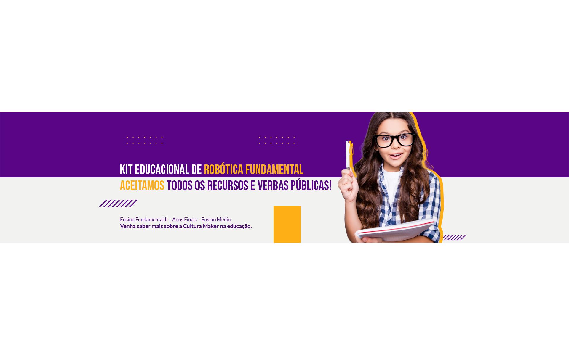 Banner Kit Educacional de Robótica