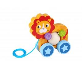 Leão Divertido de Puxar Tooky Toy