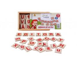 Alfabeto Já Sei Ler em Madeira com 72 peças