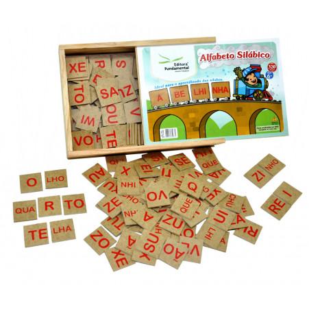 Jogo Alfabeto Silábico em Madeira com 160 peças