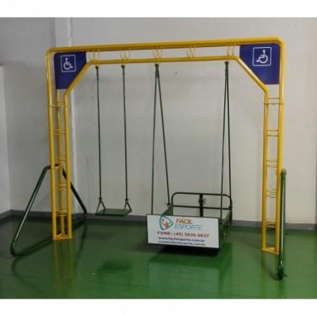 Balanço Duplo Adaptado - Cadeirante