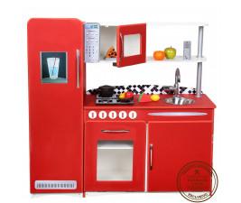 Cozinha Infantil Retrô Vermelha Fashion Toys