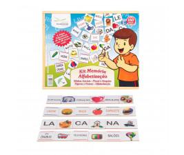 Kit Memória Alfabetização com 160 peças